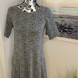 Grey T-shirt swing dress with pockets